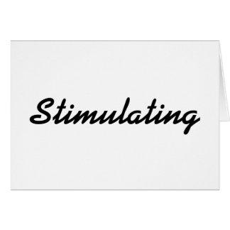 El estimular tarjeta de felicitación