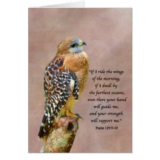 El estímulo, consigue bien, el espiritual, halcón tarjeta de felicitación
