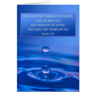 El estímulo cristiano - aguas - es. 43:2 tarjeta de felicitación