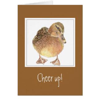 El estímulo divertido, anima para arriba - la tarjeta de felicitación