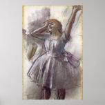 El estirar del bailarín de Edgar Degas Posters