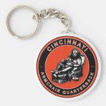 El estratega de la butaca - fútbol de Cincinnati Llavero Redondo Tipo Pin