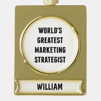 El estratega de márketing más grande de los mundos adornos navideños dorados