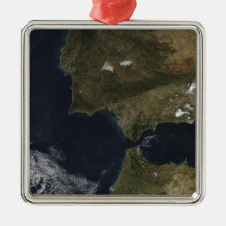 El Estrecho de Gibraltar Adorno Navideño Cuadrado De Metal