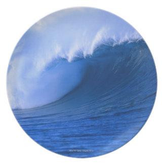 el estrellarse de la onda platos de comidas