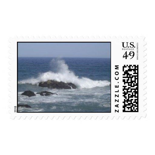 El estrellarse sello postal