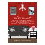 El estreno de una casa elegante de la decoración i invitación personalizada