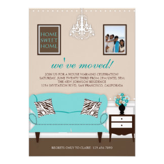 El estreno de una casa elegante de la decoración i anuncio personalizado
