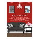 El estreno de una casa elegante de la decoración invitación personalizada