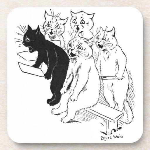 El estribillo del gato posavaso
