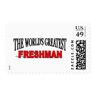 El estudiante de primer año más grande del mundo sello