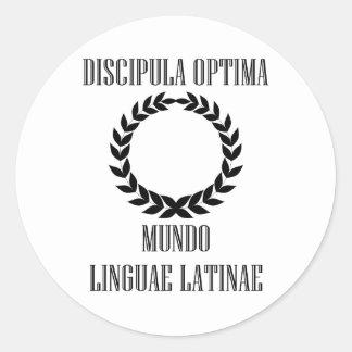 El estudiante latino más grande del mundo pegatina redonda