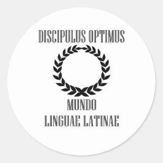 El estudiante latino más grande del mundo (varón) pegatina redonda