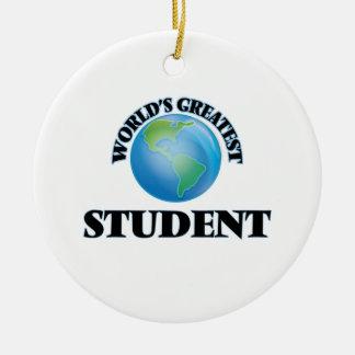 El estudiante más grande del mundo adorno de navidad