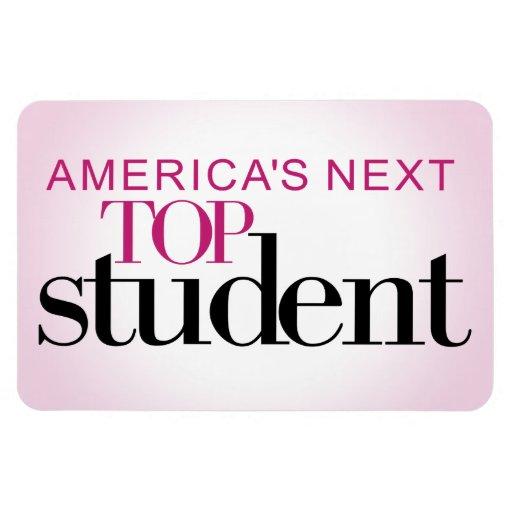 El estudiante superior siguiente de América Imanes De Vinilo
