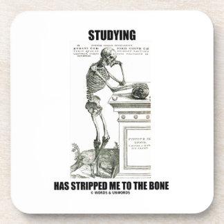 El estudiar me ha pelado al hueso (el esqueleto) posavasos