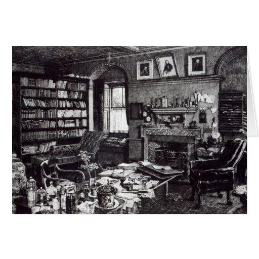 El estudio de Charles Darwin en abajo contiene, 18 Tarjeta De Felicitación