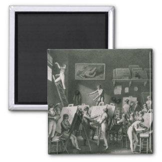 El estudio de Jacques Louis David Imán Cuadrado