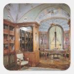 El estudio de Napoleon Bonaparte, c.1800 Pegatina Cuadrada