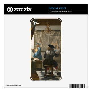 El estudio del artista, c.1665-66 (aceite en lona) calcomanías para iPhone 4S