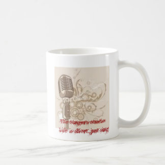 El estudio del cantante taza de café