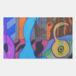 el estudio del músico rectangular altavoz