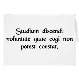 El estudio depende de la voluntad del estudiante…. tarjeta de felicitación