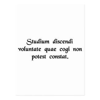 El estudio depende de la voluntad del estudiante…. tarjeta postal