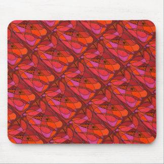 """El """"estudio en rojos"""" tejó el diseño abstracto tapete de ratón"""