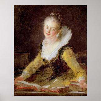 El estudio, o la canción, c.1769 póster