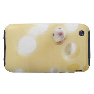 El estudio tiró del ratón blanco que miraba a trav iPhone 3 tough funda