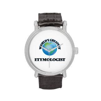 El etimólogo más grande del mundo relojes de mano