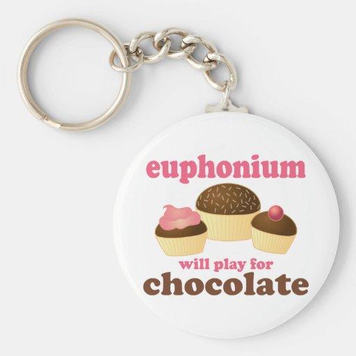 El Euphonium divertido jugará para el chocolate Llavero Redondo Tipo Pin