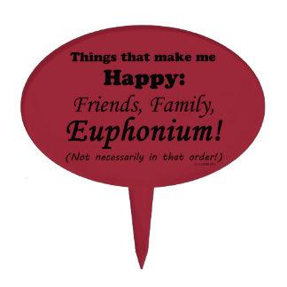 El Euphonium me hace feliz Figura Para Tarta