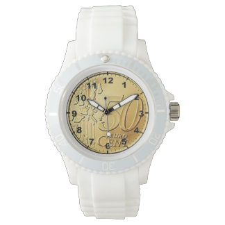 """El """"euro 50 centavos acuña"""" los relojes del diseño"""