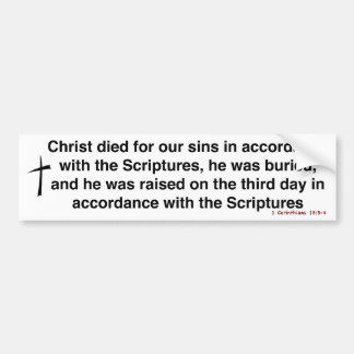 El evangelio pegatina de parachoque