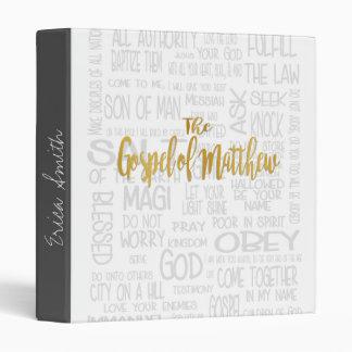 """El evangelio de Matthew, del blanco y del oro Carpeta 1"""""""