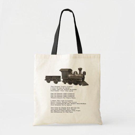 EL EVANGELIO TRAIN-BAG BOLSAS LIENZO