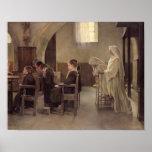 El Eve de la primera comunión, antes de 1890 Posters