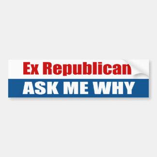 El ex republicano me pregunta porqué pegatina de parachoque