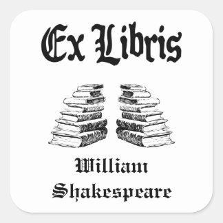 El ex vintage de Libris pone letras a Bookplate de Pegatinas