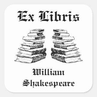 El ex vintage de Libris reserva Bookplate de encar Etiqueta