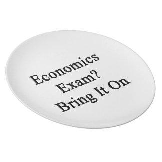 El examen de la economía lo trae encendido plato para fiesta