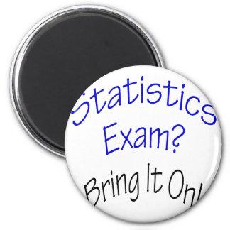 El examen de las estadísticas lo trae encendido imán redondo 5 cm