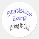 El examen de las estadísticas lo trae encendido pegatina redonda