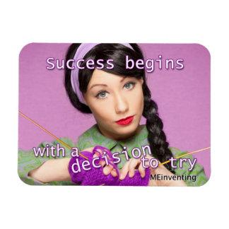 El éxito comienza iman flexible