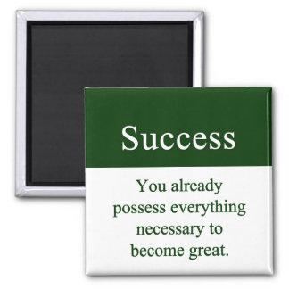 El éxito empieza con dentro iman de nevera