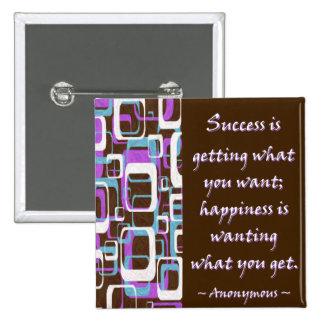 El éxito es… Botón