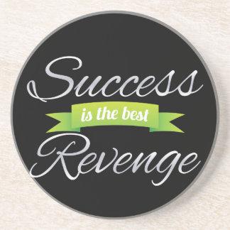 El éxito es el mejor verde de la venganza posavasos manualidades