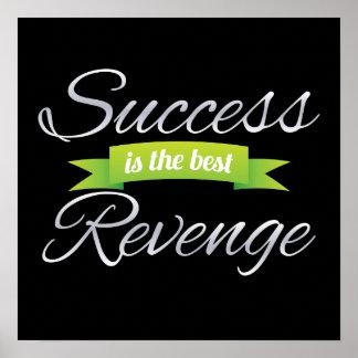 El éxito es el mejor verde de la venganza póster